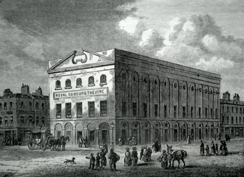 "ANTIQUE PRINT: [THE OLD VIC] THE OLD ""COBURG"" THEATRE IN 1820."