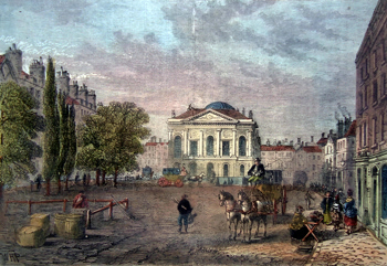ANTIQUE PRINT: CLERKENWELL GREEN IN 1789.