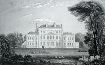 Kent SALMON 1829 print The seat of Francis Law Esqr Goudhurst Bedgebury