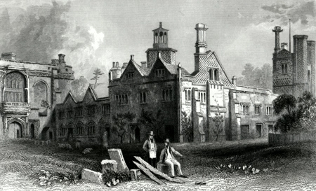 ANTIQUE PRINT: ST. OSYTH'S PRIORY, ESSEX.