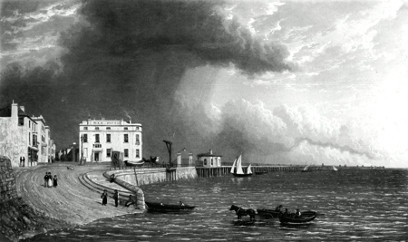 ANTIQUE PRINT: RYDE PIER. ISLE OF WIGHT.