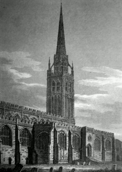ANTIQUE PRINT: ST. MICHAEL'S CHURCH, COVENTRY.