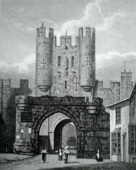 ANTIQUE PRINT: MICKLE GATE BAR – YORK.