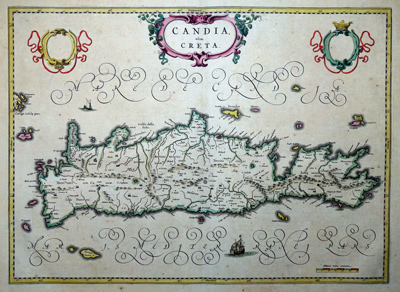 Antique map of Crete