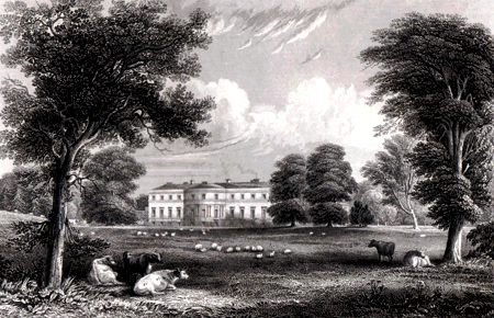 ANTIQUE PRINT: BROOMHALL : THE SEAT OF THE RIGHT HON.BLE EARL OF ELGIN.