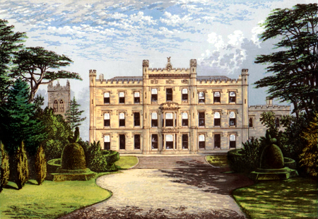 ANTIQUE PRINT: ELVASTON CASTLE.