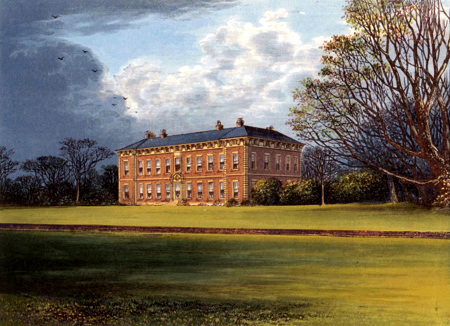 ANTIQUE PRINT: BENINGBROUGH HALL.