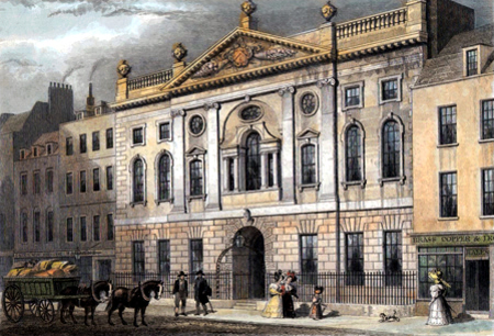 ANTIQUE PRINT: IRONMONGERS' HALL, FENCHURCH STREET.