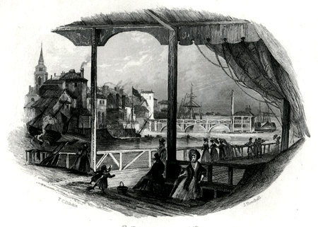 ANTIQUE PRINT: GRAVESEND, FROM THE TERRACE PIER.