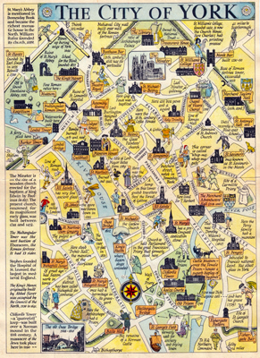 ANTIQUE MAP: THE CITY OF YORK.