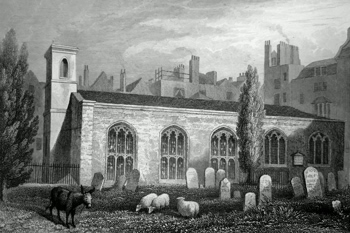Antique print of Savoy Chapel