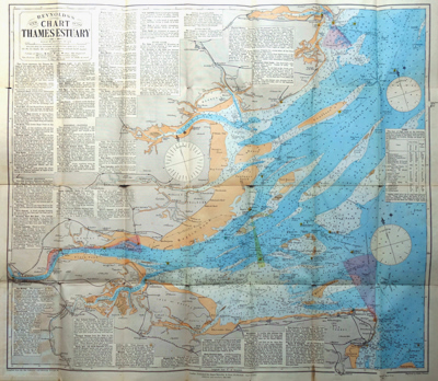 WELLAND, Ralph, 1847-1930 : REYNOLDS'S NEW CHART OF THE THAMES ESTUARY.