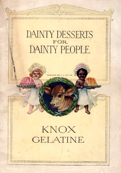 HILL, Janet McKenzie, 1852-1933 : SALADS SAVORIES AND DAINTY DISHES MADE WITH KNOX GELATINE.