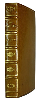 SNOW, C.P. (Charles Percy Snow, Baron), 1905-1980 : THE MASTERS.