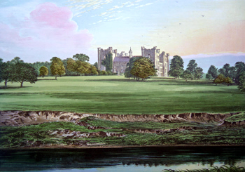 ANTIQUE PRINT: LUMLEY CASTLE.