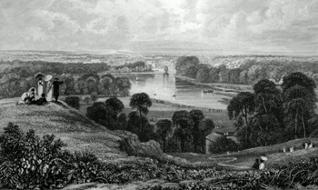 ANTIQUE PRINT: RICHMOND HILL.
