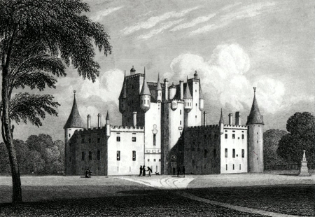 ANTIQUE PRINT: GLAMMIS CASTLE, FORFARSHIRE.
