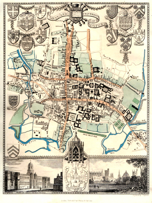 [MOULE, Thomas, 1784-1851] : CITY AND UNIVERSITY OF OXFORD.