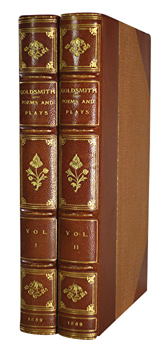 GOLDSMITH, Oliver, 1728-1774 :  THE POEMS AND PLAYS OF OLIVER GOLDSMITH.