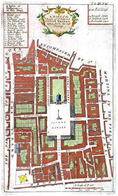 [BLOME, Richard, 1635-1705] : A MAPP OF THE PARISH OF ST. PAULS COVENT GARDEN TAKEN FROM THE LAST SURVEY.