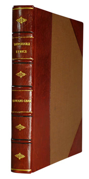 LEAR, Edward, 1812-1888 : LAUGHABLE LYRICS : A FOURTH BOOK OF NONSENSE POEMS, SONGS, BOTANY, MUSIC &C.