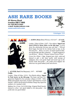 Antiquarian, rare and fine books, and first editions at Ash Rare Books